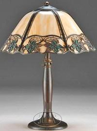 Table Lamp | Handel Overlay Slag Glass Panels 22