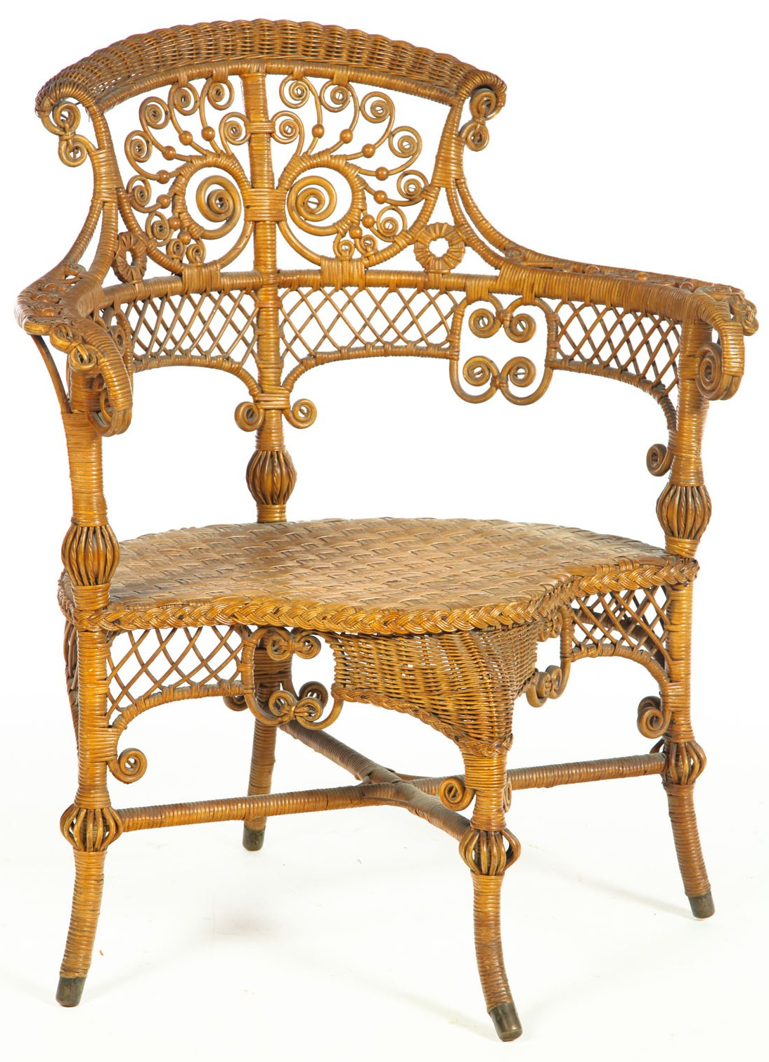 heywood wakefield wicker chairs slipcovered dining furniture armchair victorian