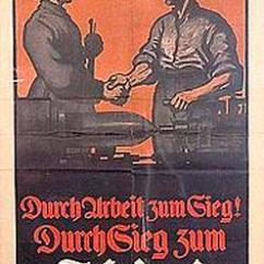 Decorative Glass Jars For Kitchen Home Depot Cabinet Doors Poster; Propaganda, Wwi, German, Durch Arbeit Zum Sieg ...