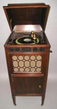 Phonograph; Edison, Model S 19, Mahogany Floor Cabinet, 32 ...