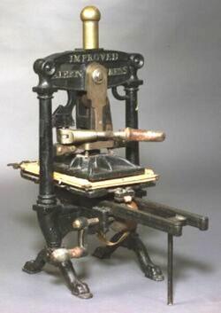 Book Press Albion Improved Printing Press Cast Iron