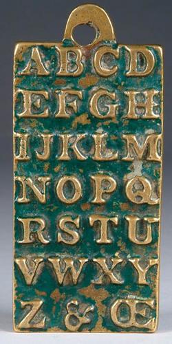 Childrens Hornbook Brass St Pauls 1729 5 Inch