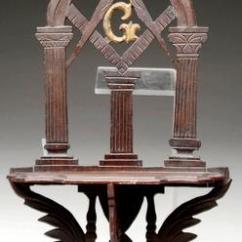 Decorative Glass Jars For Kitchen Tall Trash Bags Furniture: Shelf-hanging; Masonic Lodge, Bracket, Carved ...