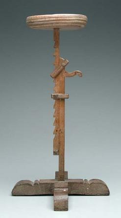 Candlestand Wood Ratchet Type Cross Stretcher Base 35
