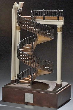 Model Spiral Staircase Loretto Chapel 25 Inch   The Staircase Of Loretto Chapel   Spiral   Explained   Ancient   Free Standing   Sparrow