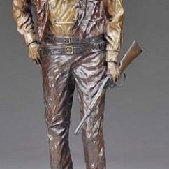 Decorative Glass Jars For Kitchen Sink Base Cabinet Sizes Bronze Sculpture; Manuel (david), Signed 1981, John Wayne ...