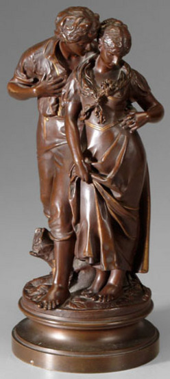 tiffany kitchen lighting www ikea cabinets bronze sculpture; madrassi (luca), after, amorous couple ...