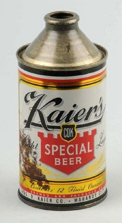 Beer Can Kaiers Special Beer Cone Top 12 ounce