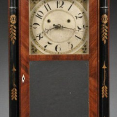 Decorative Glass Jars For Kitchen Chicago Hotels With Full Shelf Clock; Hoadley (silas), Column & Splat, Mahogany ...