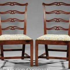 Antique Ladder Back Chairs Value Orange Living Room Chair Furniture: Chair-side (02); Chippendale, Walnut, Ladderback, Square Molded Legs.
