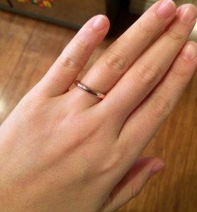 Rose gold band from eweddingbands 3mm  PriceScope Forum