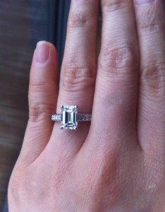 Emerald cut diamond engagement ring image by merrilymerrily also jewel of the week stunning rh pricescope