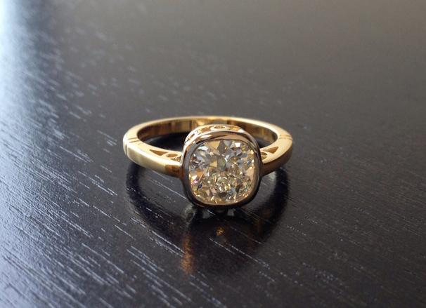 Jewel Of The Week Gorgeous In Gold Bezel Diamond