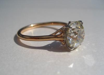 Jewel Of The Week Antique Cushion Cut Diamond Ring