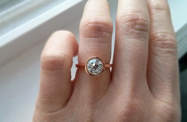 Jewel Of The Week Rose Gold Petal Engagement Ring