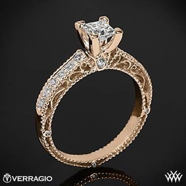 20k Rose Gold Verragio AFN5001P2 Scrolled Pave Diamond
