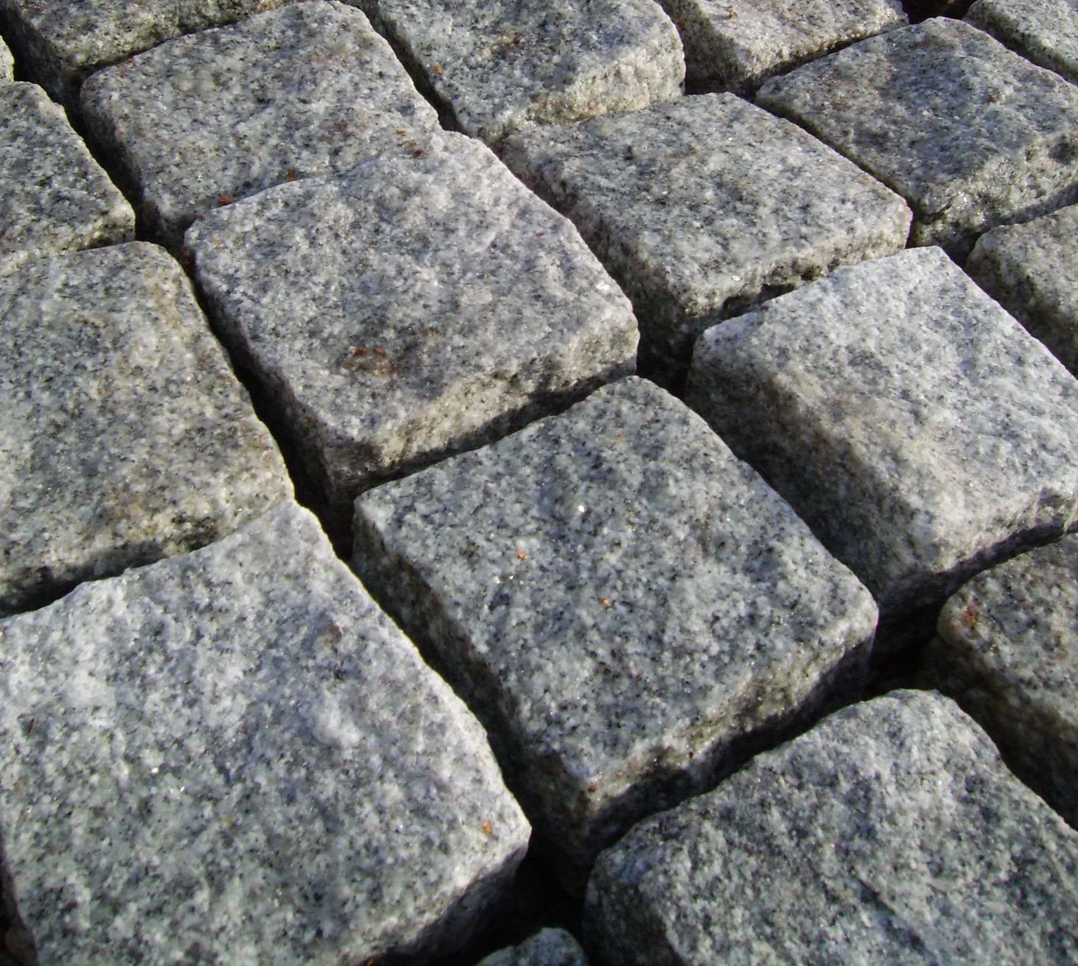 Silver Granite Setts  Prices Paving