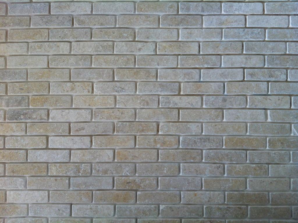 Jerusalem Grey Gold Tumbled Brick Slips Prices Paving
