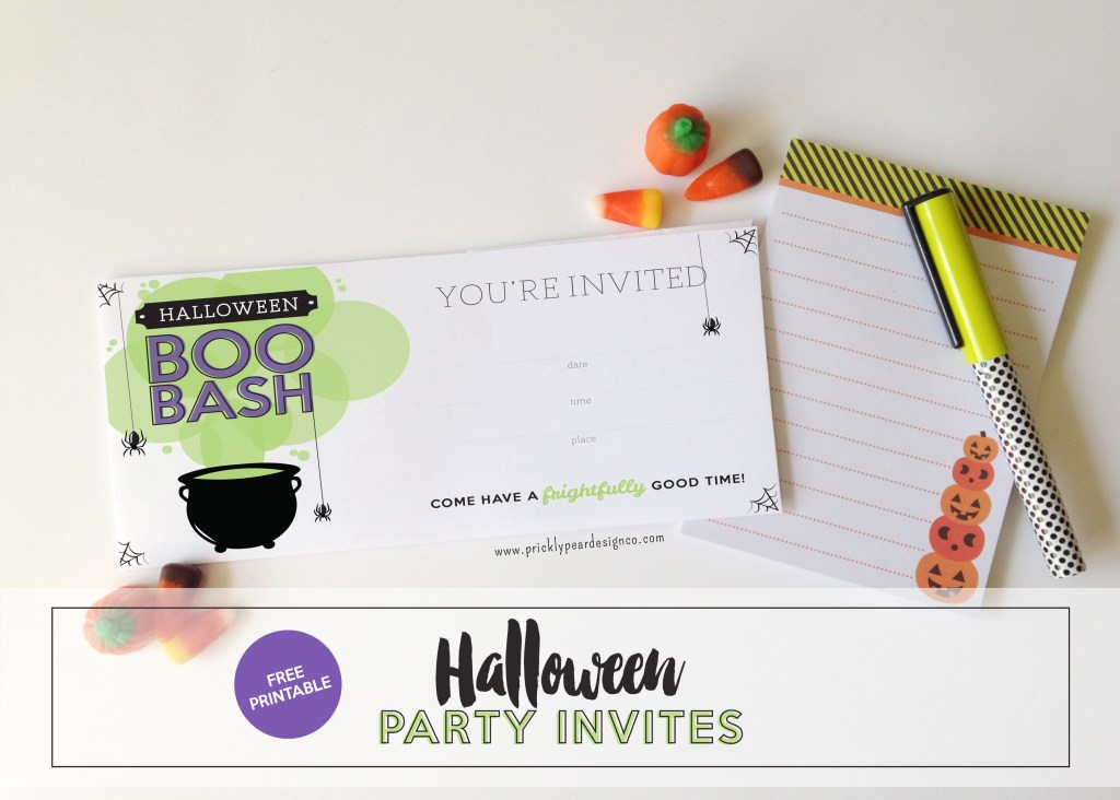 Boo Bash Halloween Party Invite | Prickly Pear Design Co. | Free Printable