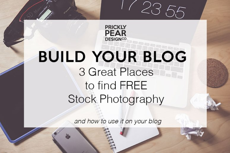 Build Your Blog: 3 Great Places to find FREE Stock Photography and How to Use it on Your Blog | Prickly Pear Design Co.