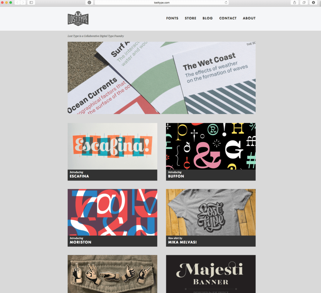 3 Free Online Typography Resources for Designers | Prickly Pear Design Co. | free font resource | Lost Type Co Op