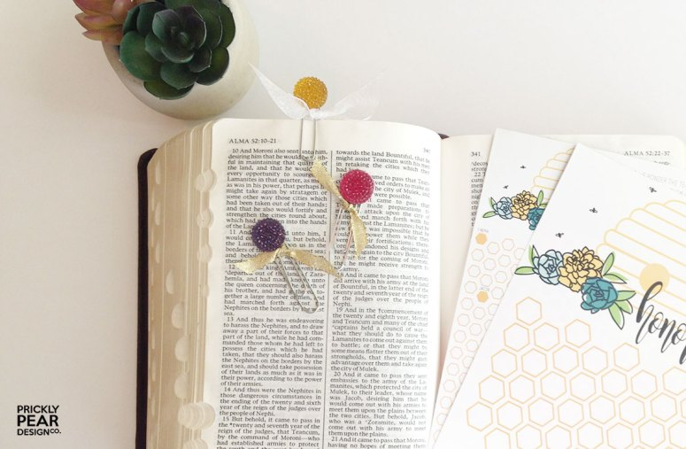 DIY Scripture Clip/Bookmark | Prickly Pear Design Co. | Honor Bee Tracking Cards | LDS Young Women