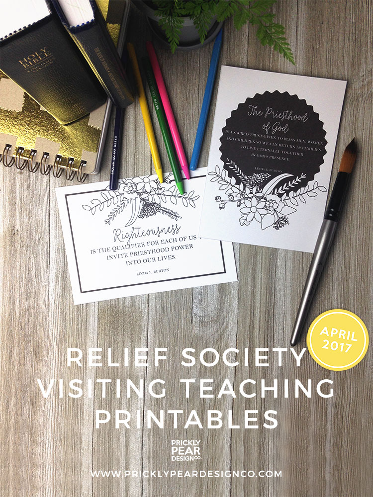 The Oath & Covenant of the Priesthood Visiting Teaching Printable   LDS   Relief Society   Visiting Teaching   LDS Printables   Prickly Pear Design Co.