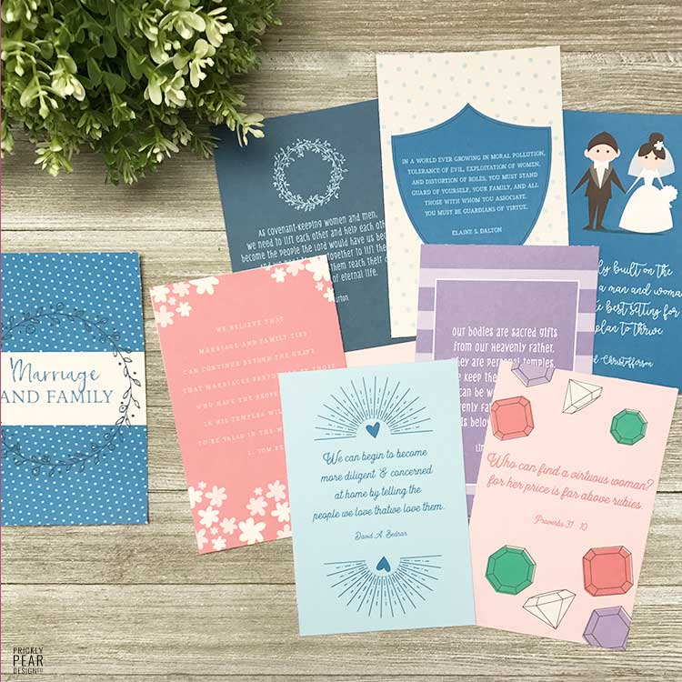 Come Follow Me Lesson Handouts | August - Marriage & Family | LDS Youth | LDS Lessons Handout | Prickly Pear Design Co.