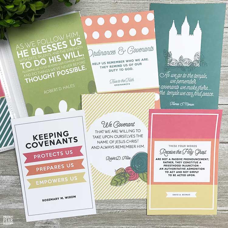 Come Follow Me Lesson Handout Kit | July - Ordinances & Covenants | LDS Printables | Prickly Pear Design Co.