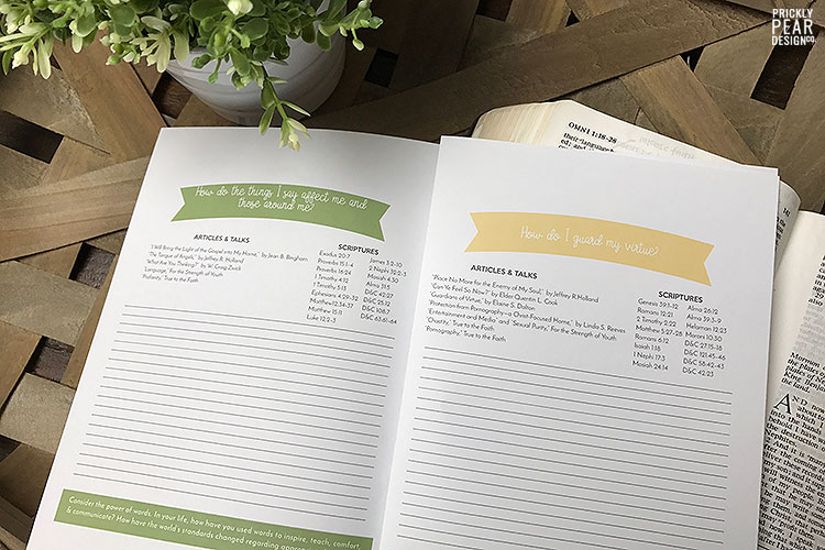 Free Come Follow Me Study Guide Printable | September Come Follow Me - Commandments | Prickly Pear Design Co. | FREE LDS printables | LDS Youth printables
