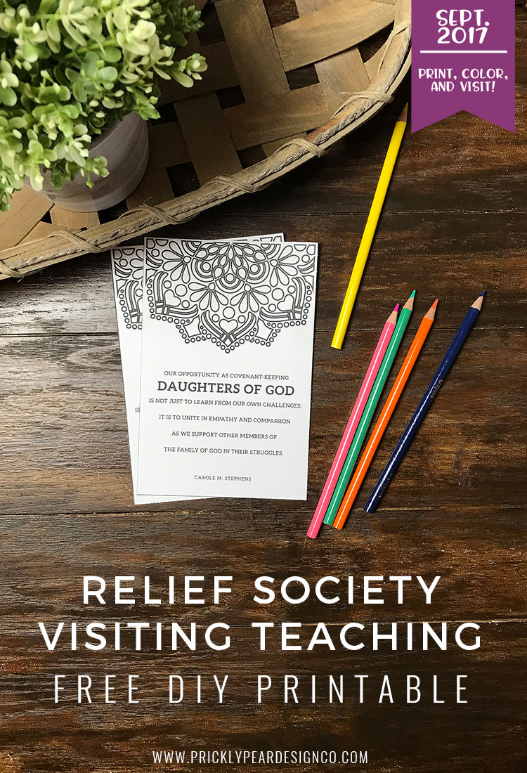 FREE Visiting Teaching Printable for September 2017 | Of One Heart | Relief Society | Visiting Teaching Handouts | Prickly Pear Design Co.