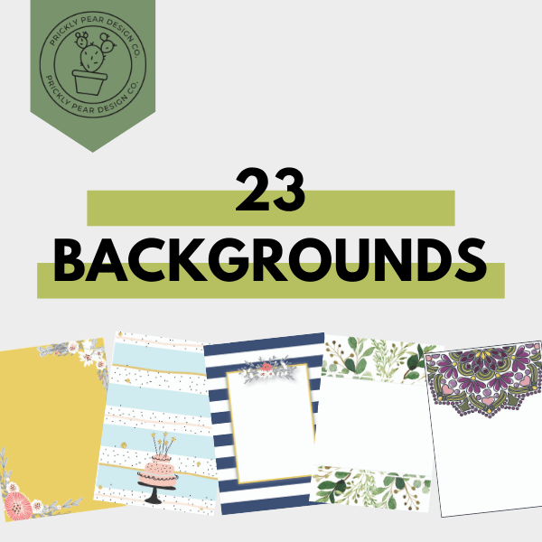 23 Printable Backgrounds Template