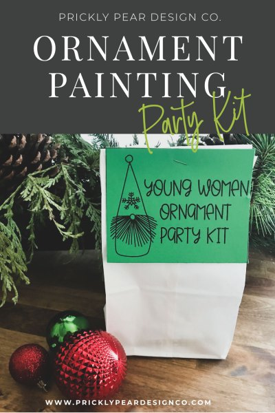 Ornament Painting Party Kit from Prickly Pear Design Co.