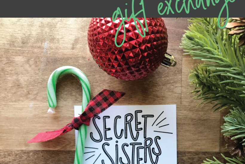 Secret Sisters Gift Exchange Idea from Prickly Pear Design Co.