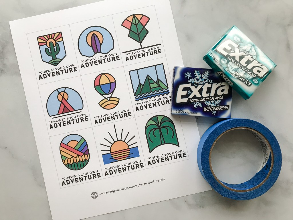 Choose Your Own Adventure Goal Setting Activity from Prickly Pear Design Co.