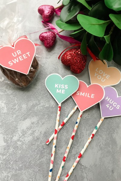 Conversation Heart Tags from Prickly Pear Design Co.