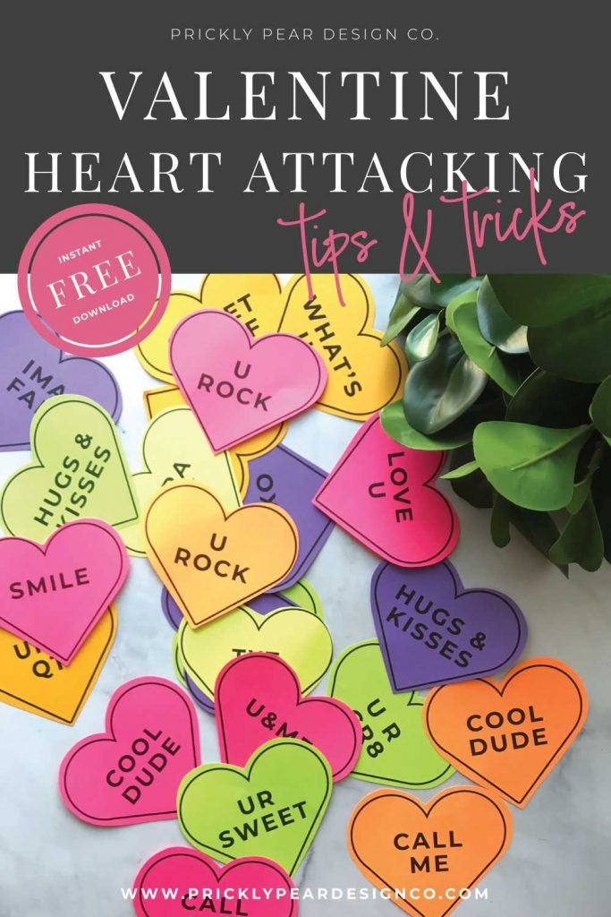 Valentine Heart Attacking Tips & Tricks from Prickly Pear Design Co.