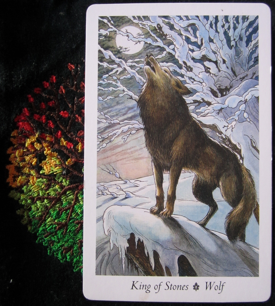 Wildwood cotd king of stones priestess tarot what do wolves mean biocorpaavc