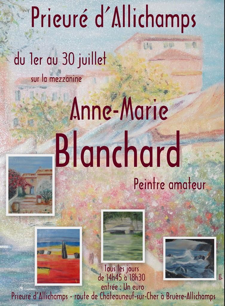 Juillet 2015 Exposition Anne-Marie Blanchard