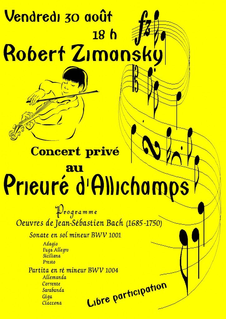 Concert privé Robert Zimansky j