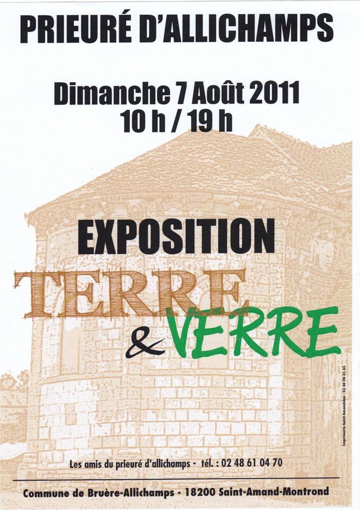 Dimanche 7 aooût 2011 Exposition Terre et verre