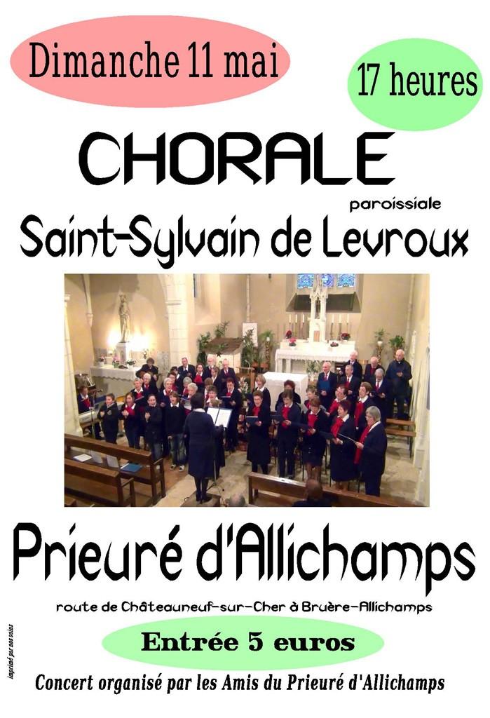 affiche concert 11 mai 2014 chrorale St-Sylvain de Levroux