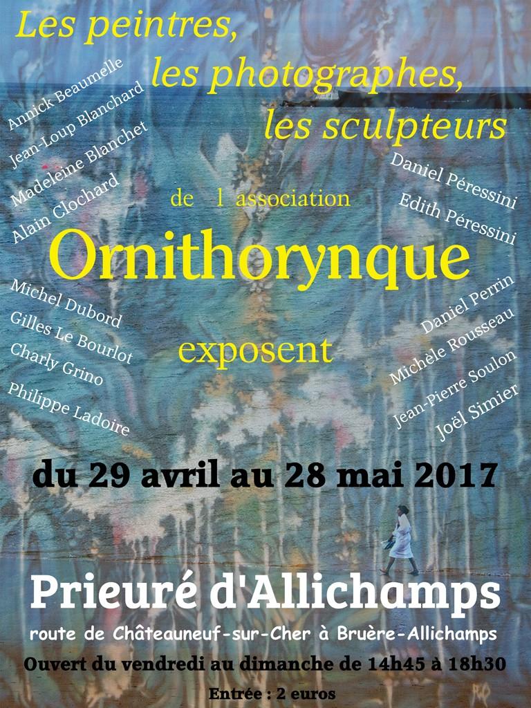 Maquette expo Ornithorynque 2017 au prieuré d'Allichamps Site