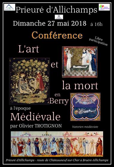 Saison 2018 – Conférence sur l'art et la mort en Berry à l'époque médiévale (27 mai)