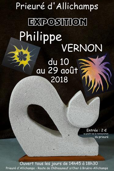Saison 2018 – Philippe Vernon, peintre et sculpteur (10 au 29 août)