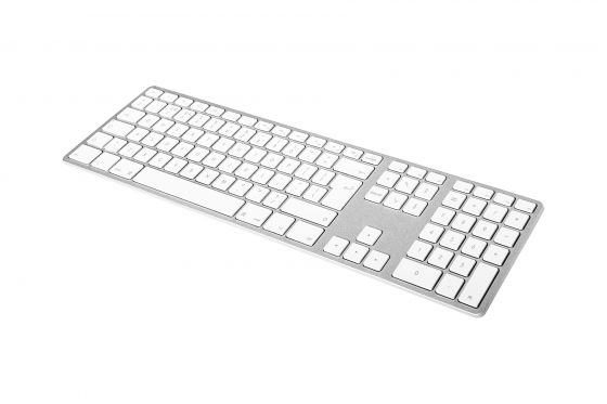 Matias Backlit Wireless Aluminum Keyboard zilver/wit US Layout