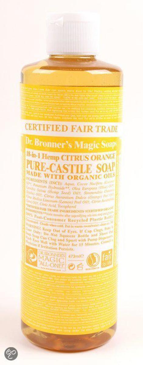 Dr Bronner Liquid Soap Citrus Orange 473 Ml Douchegel
