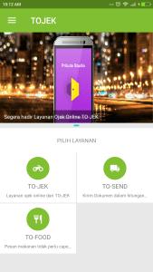Aplikasi Ojek Online Tojek