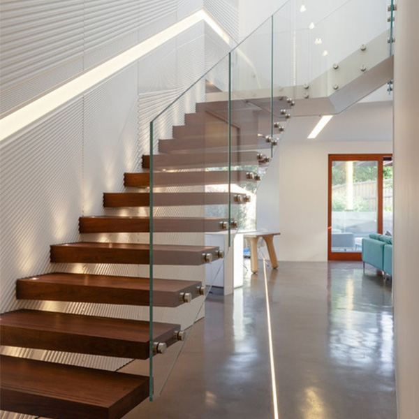 Contemporary Hot Residential Floating Staircase Design | Stairs With Glass Sides