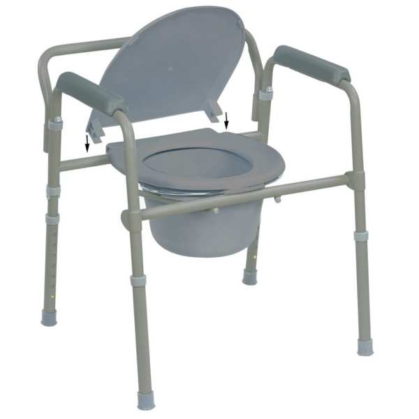 Commode - Standard - Folding - lid attachment